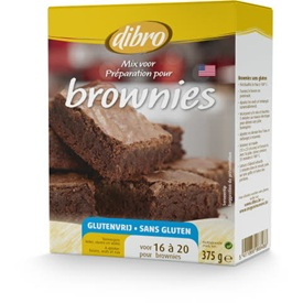 Dibro Mix pour brownies - sans gluten 375 g