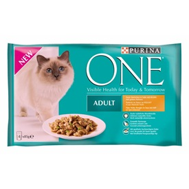 Purina ONE Adult Poulet En Gelee 4 x 85 g